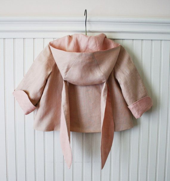 Summer Linen Bunny Coat on Etsy. Cuteness!
