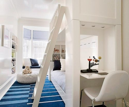 such a roomy bunk bed!: Ideas, Spaces, Boys Bedrooms, Bunk Beds, Boys Rooms, Kid Rooms, Desks, Bunk Rooms, Kids Rooms