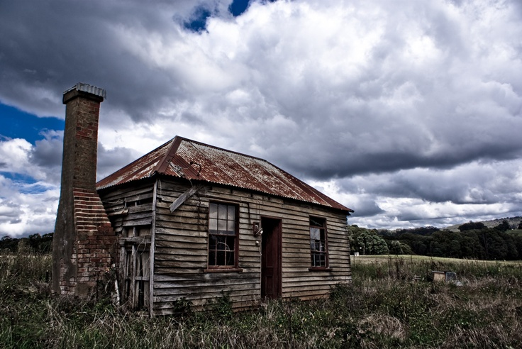 "An abandoned miners cottage a the site of an abandoned town, ""Hillsborough"", in the hills above Yackandandah"