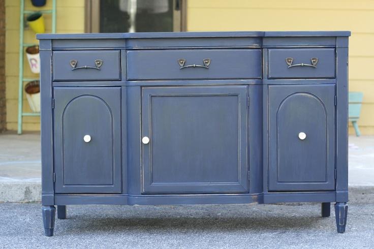 Cassie S Sophisticated Coastal Blue Sideboard Furniture Pinterest