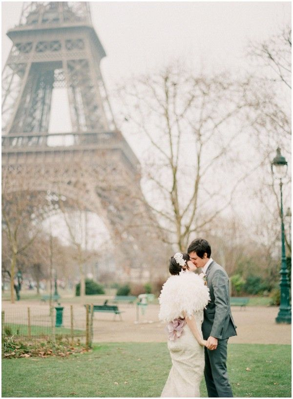 Wedding at Eiffel Tower on French Wedding Style and © Alea Lovely Fine Art Photography