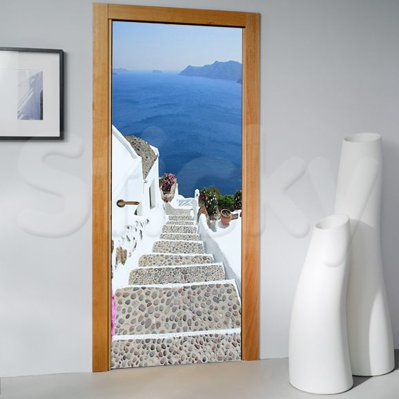 Door Sticker SANTORINI by Sticky! & 53 best Door stickers images on Pinterest | Door stickers Murals ...