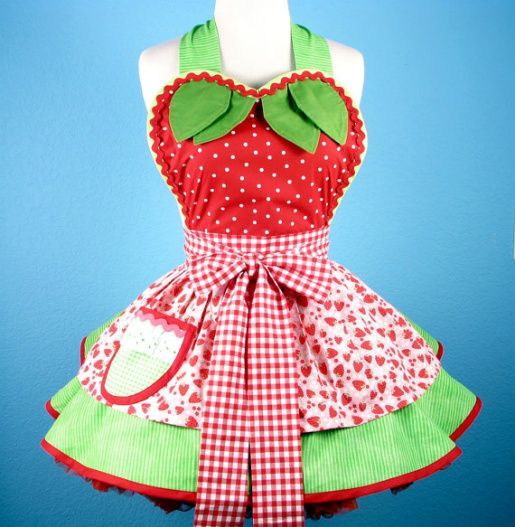I've got a thing for aprons that look like dresses. This one is just too cute!!!! Need to make one like this. ASAP.