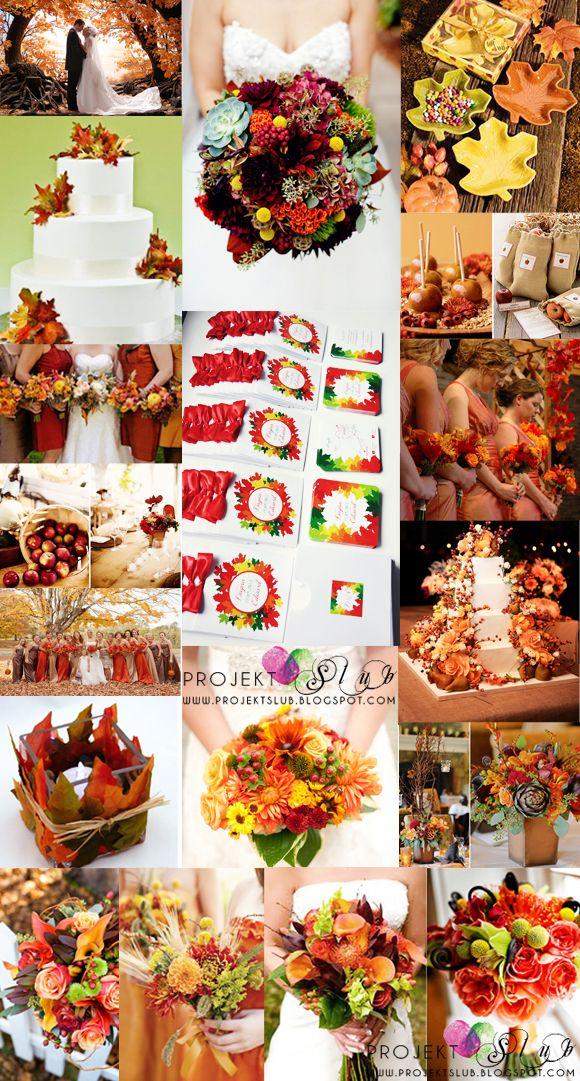 projekt ŚLUB - zaproszenia ślubne, oryginalne, nietypowe dekoracje i dodatki na wesele: jesienne zaproszenia