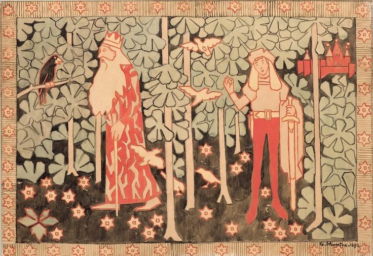 Gerhard Munthe (Norway, 1849-1929): Den kloke fugl (1892)