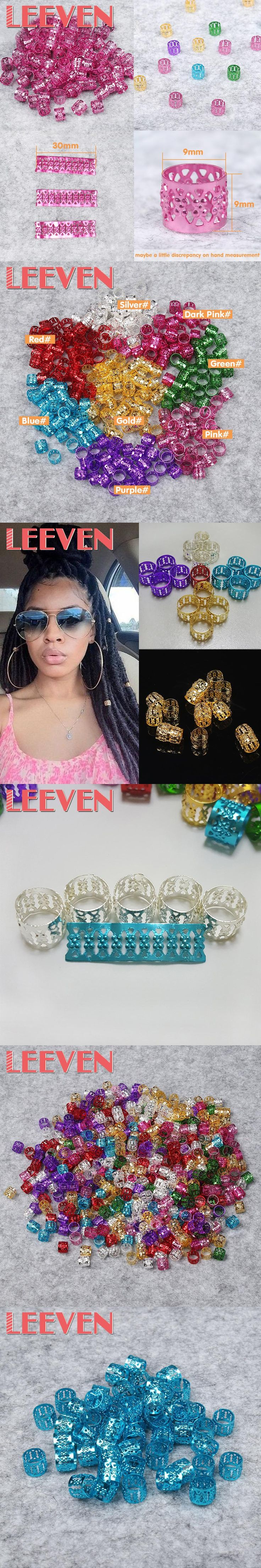 100pcs/lot Adjustable Hair Ring Dreadlock Beads for Dreadlocks  Senegalese Havana Twist Hair Golden Silver Blue Multi Colors