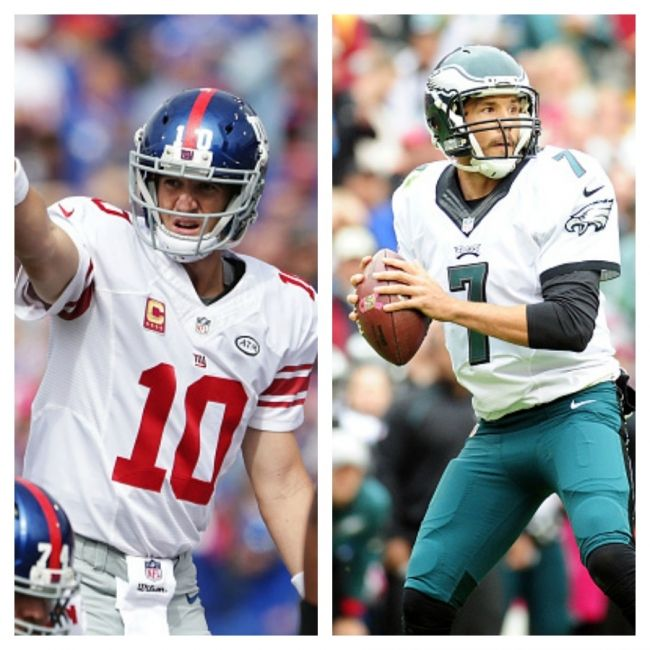 New York Giants Vs. Philadelphia Eagles NFL Football Live Stream And Radio Broadcasts (VIDEO/AUDIO) -   The New York Giants travel to Lincoln Financial Field to face the Philadelphia Eagles Monday night. -  By Henry Buggy | Oct 19, 2015 03:08 PM EDT -     New York Giants quarterback Eli Manning, Philadelphia Eagles quarterback Sam Bradford