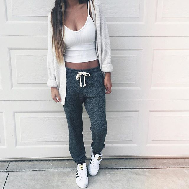 lazy sweatpants outfit - photo #13