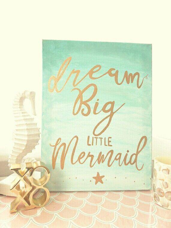 Mini Mermaid Sign