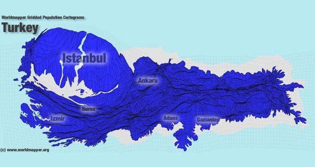 [Map] Population Density Map of Turkey