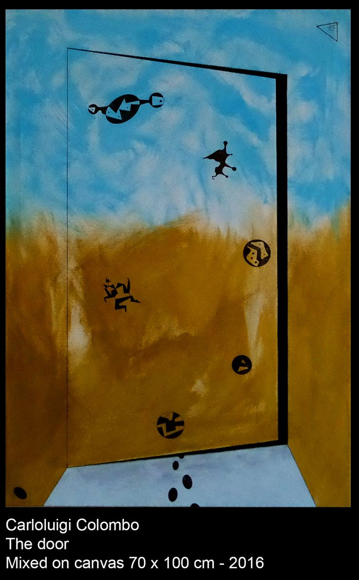 Door, esorinism, art, painting, acrylic, Riolo Terme, Italy, Faenza, Casola Valsenio