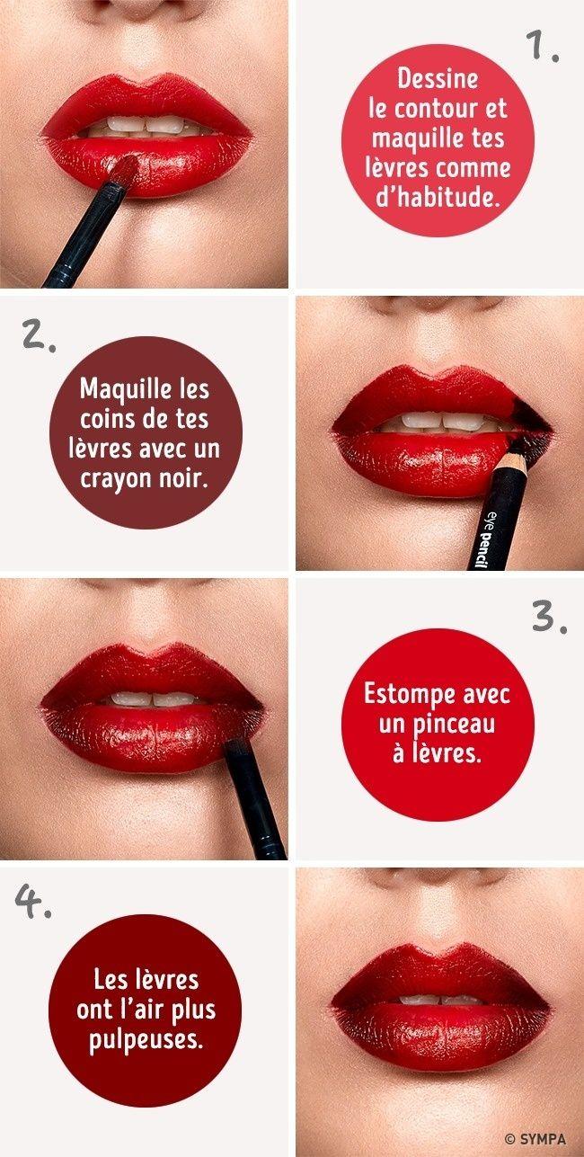 astuces pour que tes lèvres aient l'air plus pulpeuses