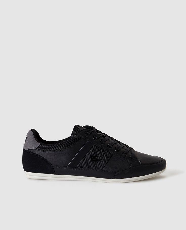 Zapatillas de piel de hombre Lacoste negras