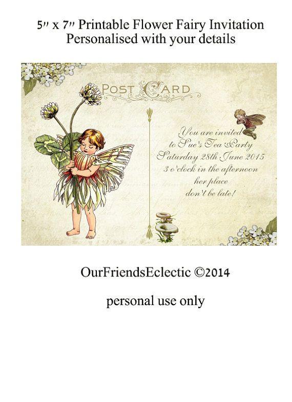 Best 25 Fairy invitations ideas – Birthday Invitation Postcards