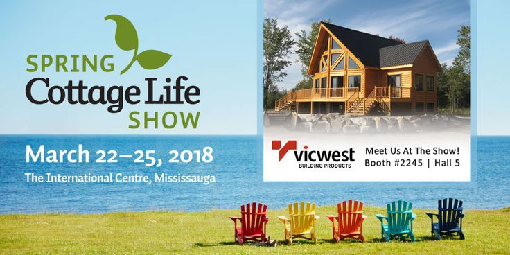 Learn why an eco-friendly metal roof is perfect for your cottage. www.vicwest.com or Visit us at the Cottage Life Show!