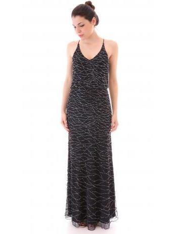 Armani Collezioni - Rhinestone long dress in tulle