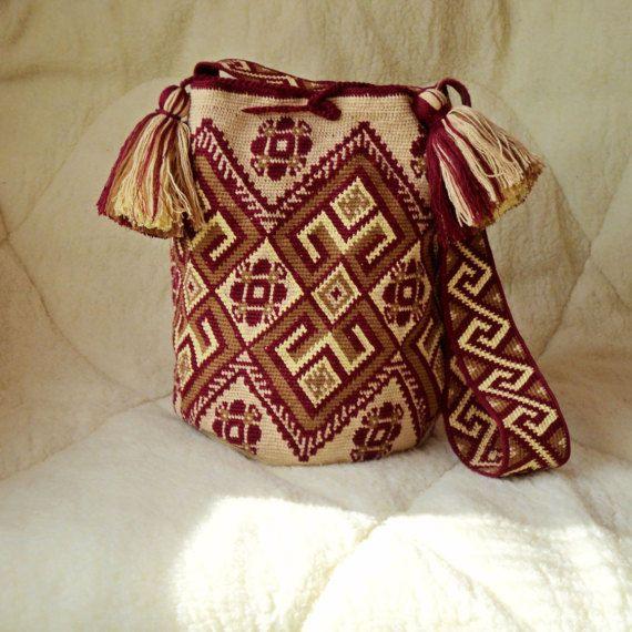 Large Modern mochila bag wayuu tecnique от SchastlyvaTorba на Etsy