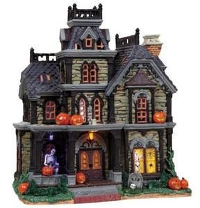 85708 - Dreadful Manor, with 4.5v Adaptor - Lemax Spooky Town Halloween Village Houses & Buildings - Lemax Village Collectibles