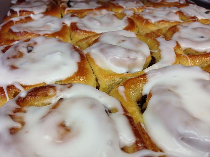 Cinnamon raisin buns | Harrison Bakeshop | Pinterest