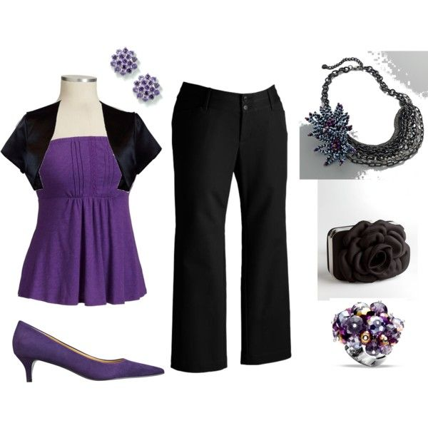 purple and black night out #plus size fashion