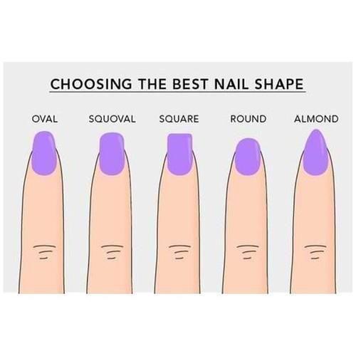 Fashion images. Choosing the best nail sharpe: Oval, Squoval, Square ...