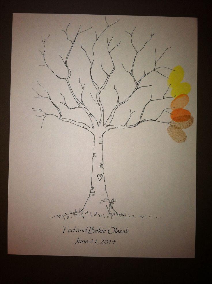Floralisa Weddings and Events: DIY: Fingerprint Tree  |Diy Fingerprint Tree