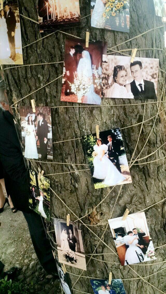 Il matrimonio è la creazione di una nuova famiglia e l'unione di altre due. Albero con le foto dei vecchi matrimoni di famiglia