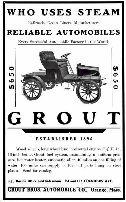 1904 Grout Automobile Advertisement
