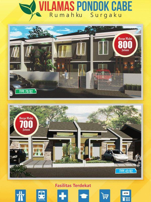 Vilamas Pondok Cabe Pamulang Tangerang Selatan | Rumah Minimalis Murah Nyaman Strategis