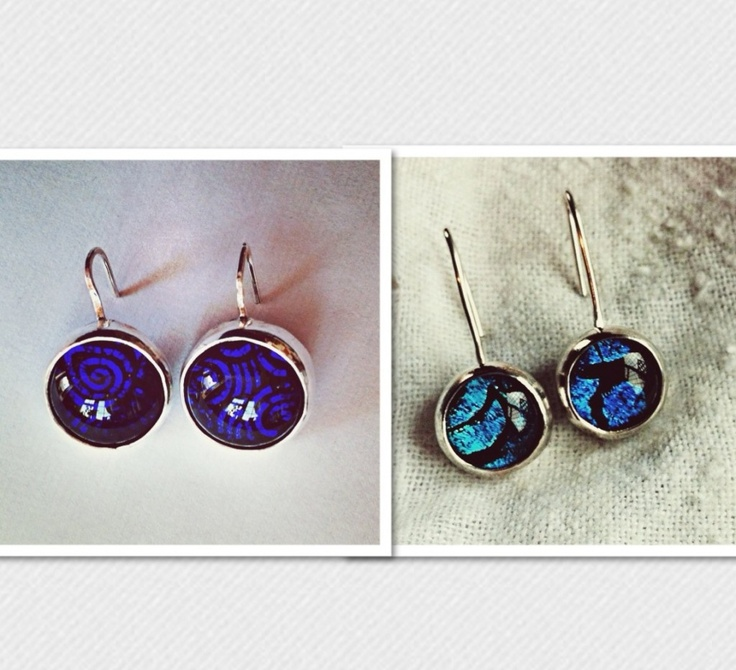Handmade to Order Sterling Silver & Glass Earrings - The Supermums Craft Fair