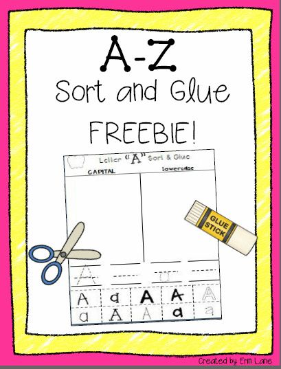 Fun, hands-on literacy center or assessment activity! Students cut, sort and glue letters by capital or lowercase, as well as practice tracing/writing the letter.
