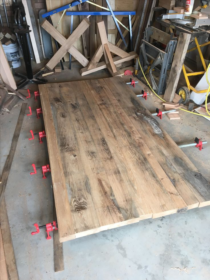 """That look only age creates. 42""""x84"""" solid oak table top almost done."""