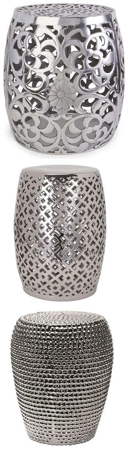 Silver Garden Stools .instyle-decor.com/silver-garden-stools. Ceramic ...  sc 1 st  Pinterest & Best 25+ Ceramic stool ideas on Pinterest | Built in bathtub ... islam-shia.org