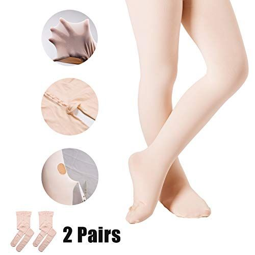 6234d8f51bdbd Ballet Tights for Girls Dance Leotards Ultra Soft Footed Tight ...