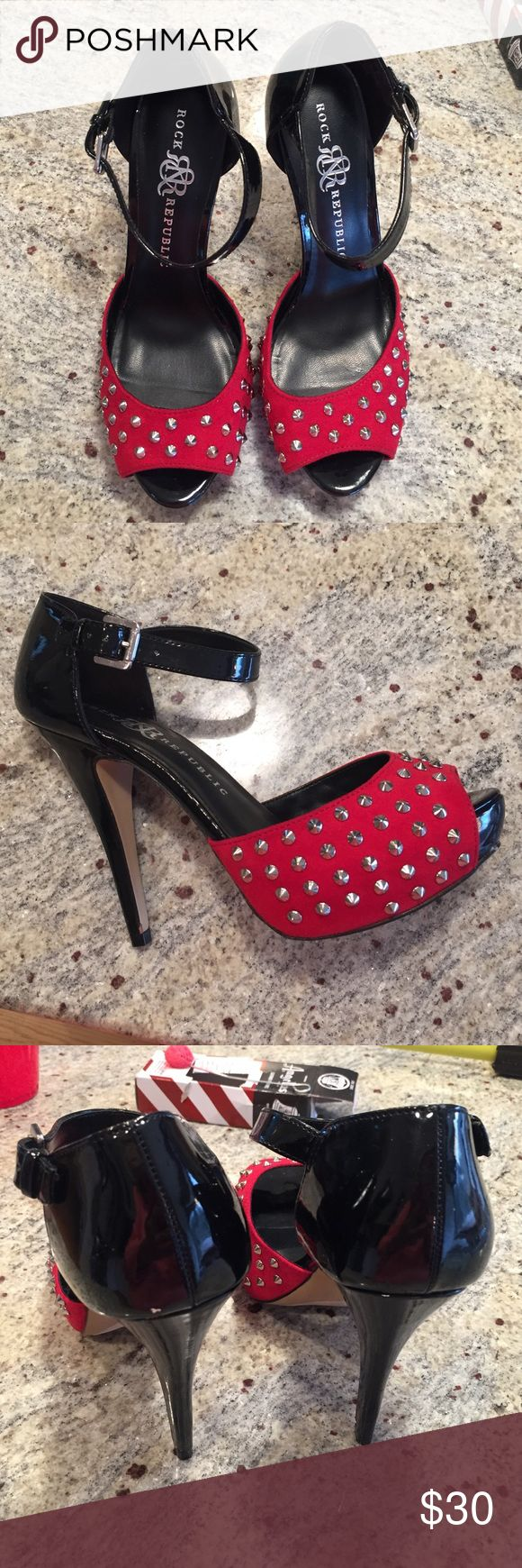 Rock & Republic Red White and Black Stilettos Brand new R&R Stilettos. Rock & Republic Shoes Heels
