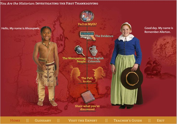 Plimoth Plantation's Online Learning Center: You Are the Historian - Thanksgiving Interactive