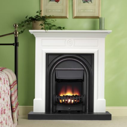 Be Modern Dalston Flat Against Wall Electric Fire Suite: Image 4