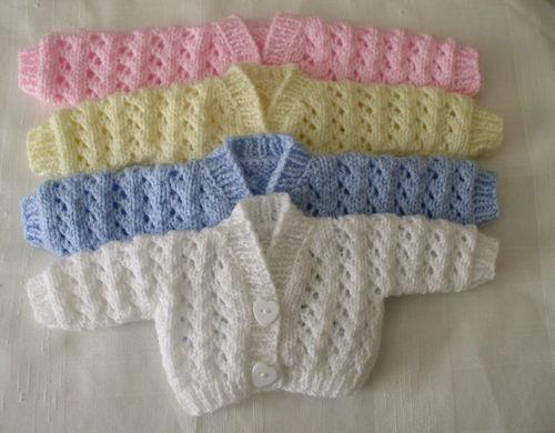 Preemie, Premature, Newborn Baby handknitted cardigans   eBay