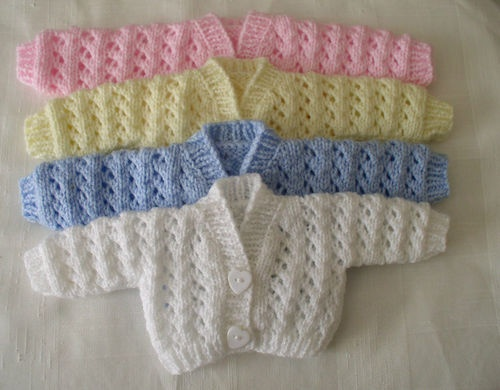 Knitting Clothes For Premature Babies : Preemie premature newborn baby handknitted cardigans