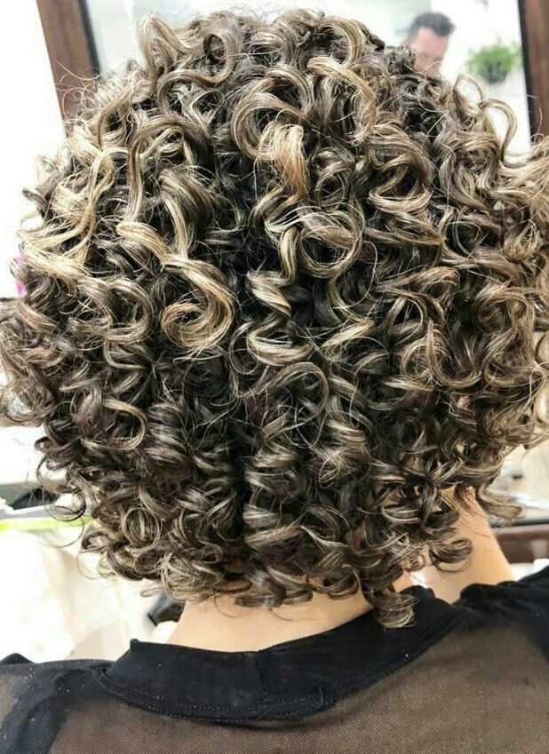 Permed Then Frosted Short Permed Hair Curly Hair Styles
