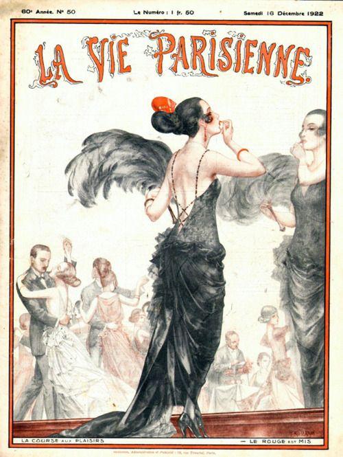 .: Vintage Posters, Vintage Illustrations, December 1922, That'S Life, Décembr 1922, Parisian Life, Parisienne December, Illustrations Posters Ads, Art Deco