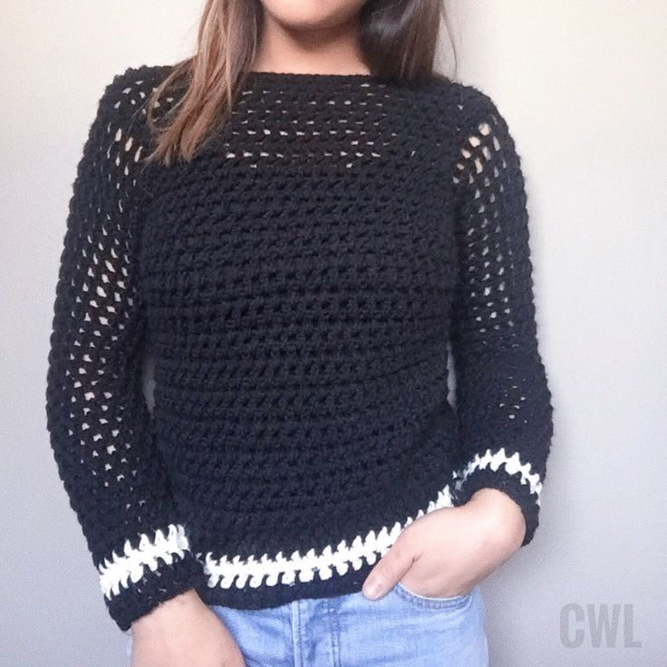 Mesh crochet sweater by Crochitted with Love