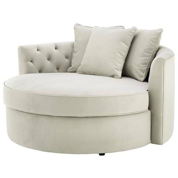 Erganza Round Sofa In Pebble Grey Fabric ($4,843) ❤ Liked On Polyvore  Featuring Home