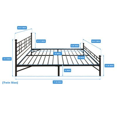 best price quality model h platform bed frame size twin - Twin Bed Frame Size