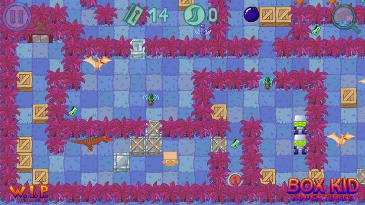 A bit of an 80's vibe ;-) Box Kid Adventures. #screenshotsaturday #gamedev #indiedev #GameMaker #indiegames #puzzle