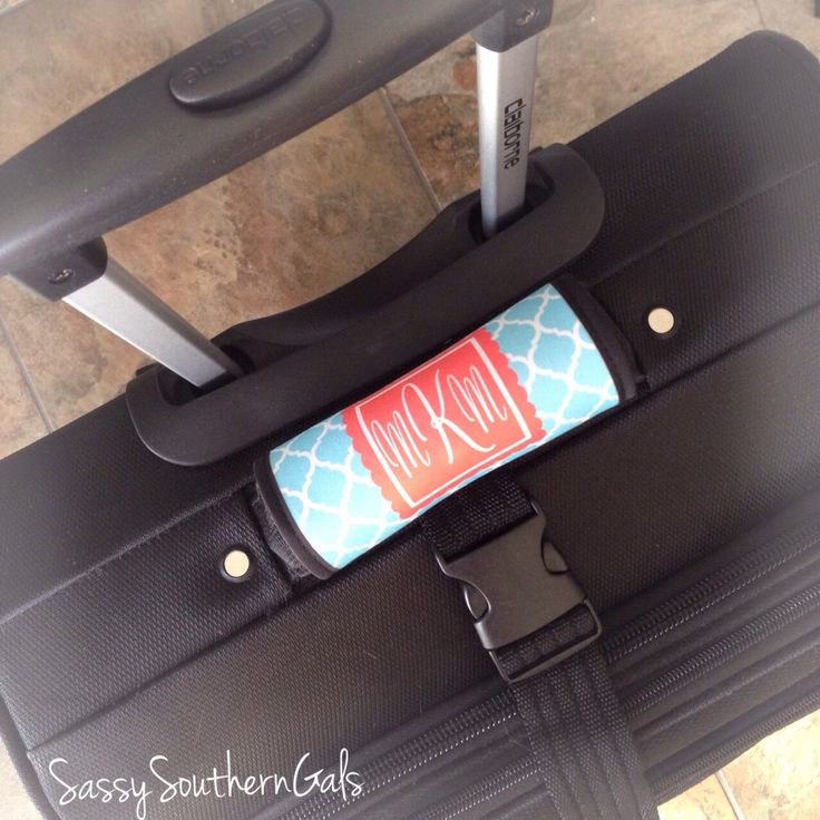 Monogram Luggage Tag, Luggage Tag Personalized, Monogrammed Luggage Tag Handle Wrap, Monogrammed Gift, Design Your Own by SassySouthernGals on Etsy https://www.etsy.com/listing/185953647/monogram-luggage-tag-luggage-tag