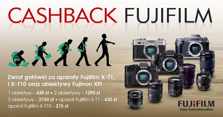 FujiFilm Cashback: zwrot gotówki do 5160 zł za aparaty z serii X, obiektywy XF i zestawy!