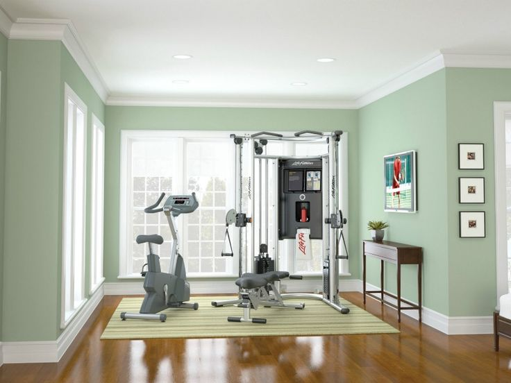 Pretty idea for a home gym! We think NORSK flooring would also accompany the gym nicely. :) http://www.norsk-stor.com/