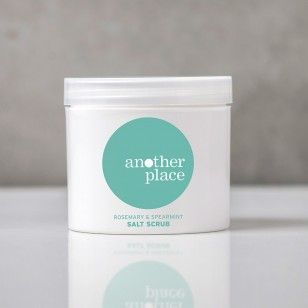 Handmade with pure essential oils of rosemary, spearmint, lavender & ylang ylang, for a naturally exfoliating scrub. Buy it online at http://www.anotherplace.co.uk/bath-and-body/another-place-salt-scrub.html