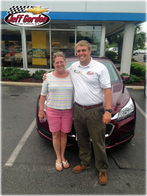 Ben helped Jamie trade her 2010 #Malibu for a brand new 2014! Congrats, Jamie and thanks for being a loyal member of the family! Check out more family photos at www.Facebook.com/TheJGCFamily.